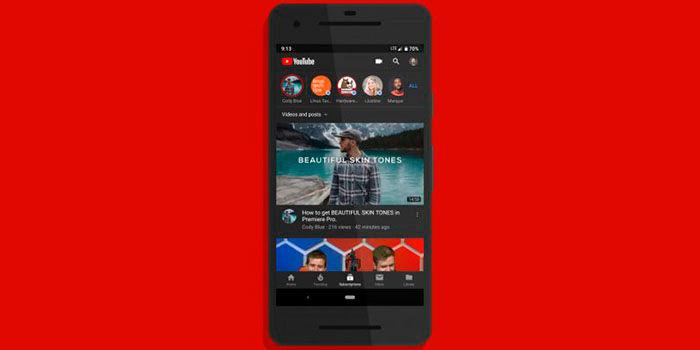 Activar tema oscuro en Youtube Android
