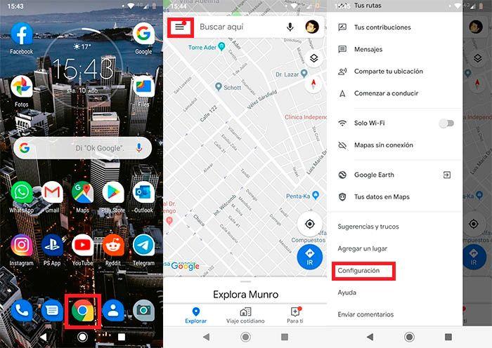 Activar velocimetro Google Maps