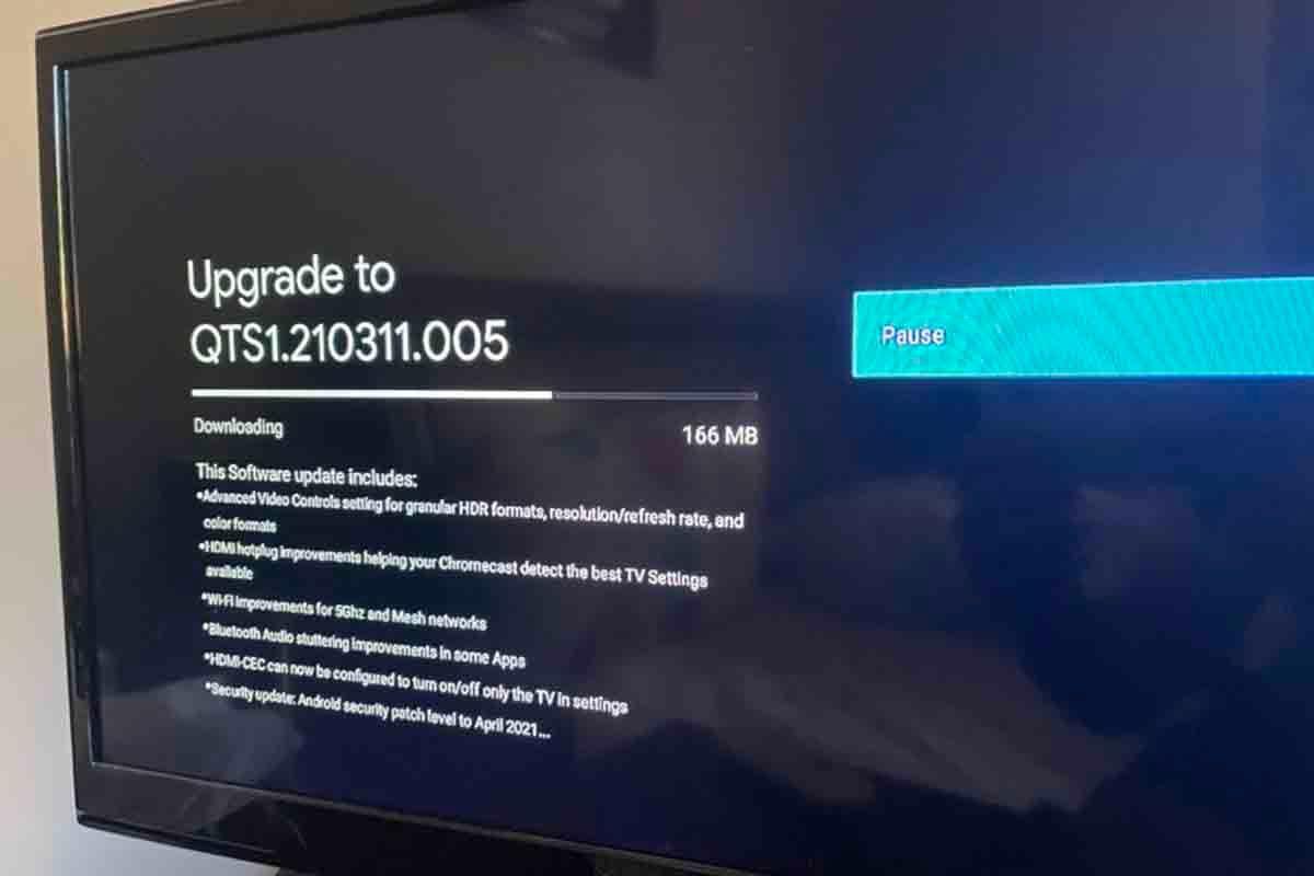 Actualiza última versión Google TV