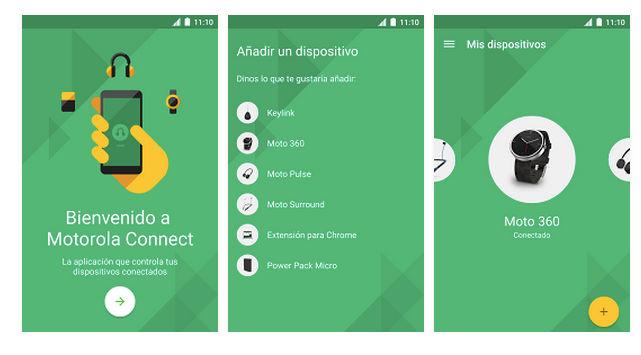 Actualización Motorola Connect con nuevos watchfaces y nueva Interfaz de usuario