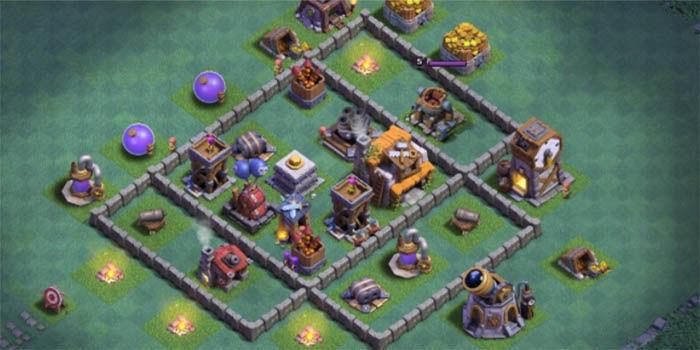 Actualizacion de la base del constructor de clash of clans