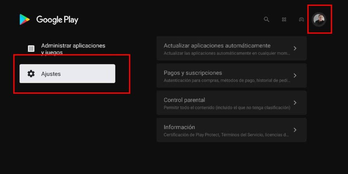 Actualizaciones apps en Android TV