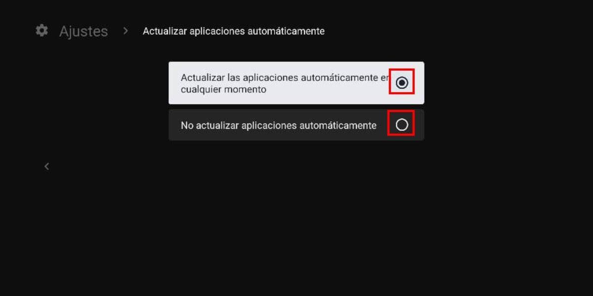 actualizaciones de apps android tv