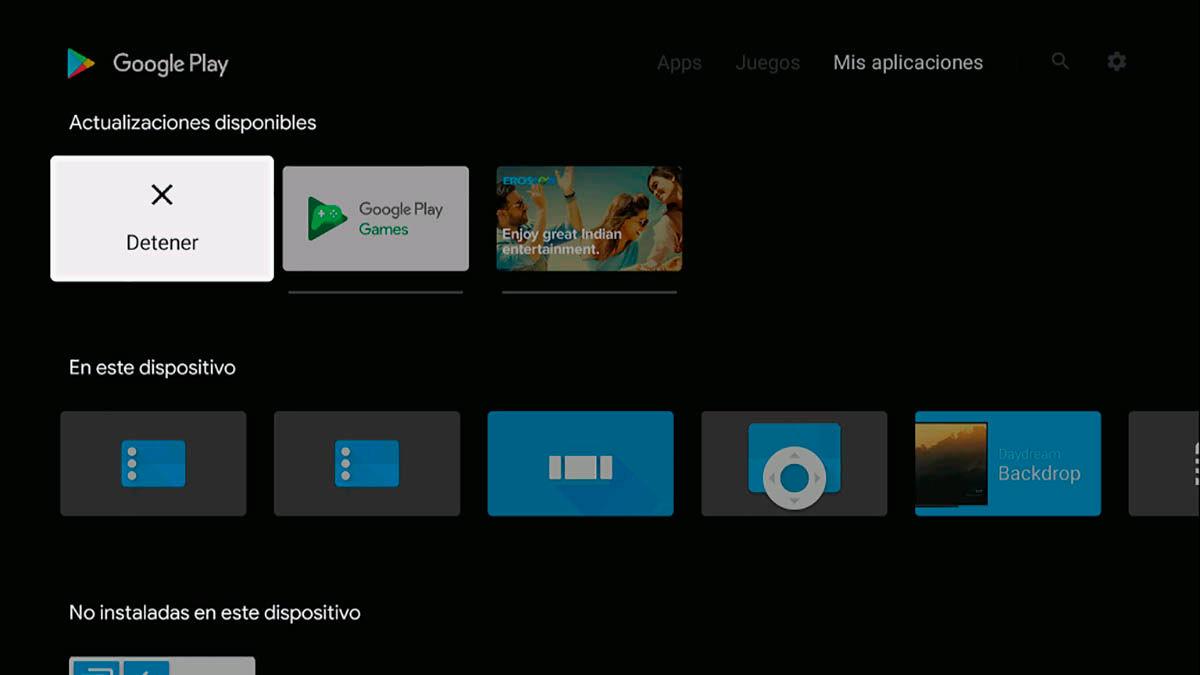 Actualizando aplicaciones Android TV