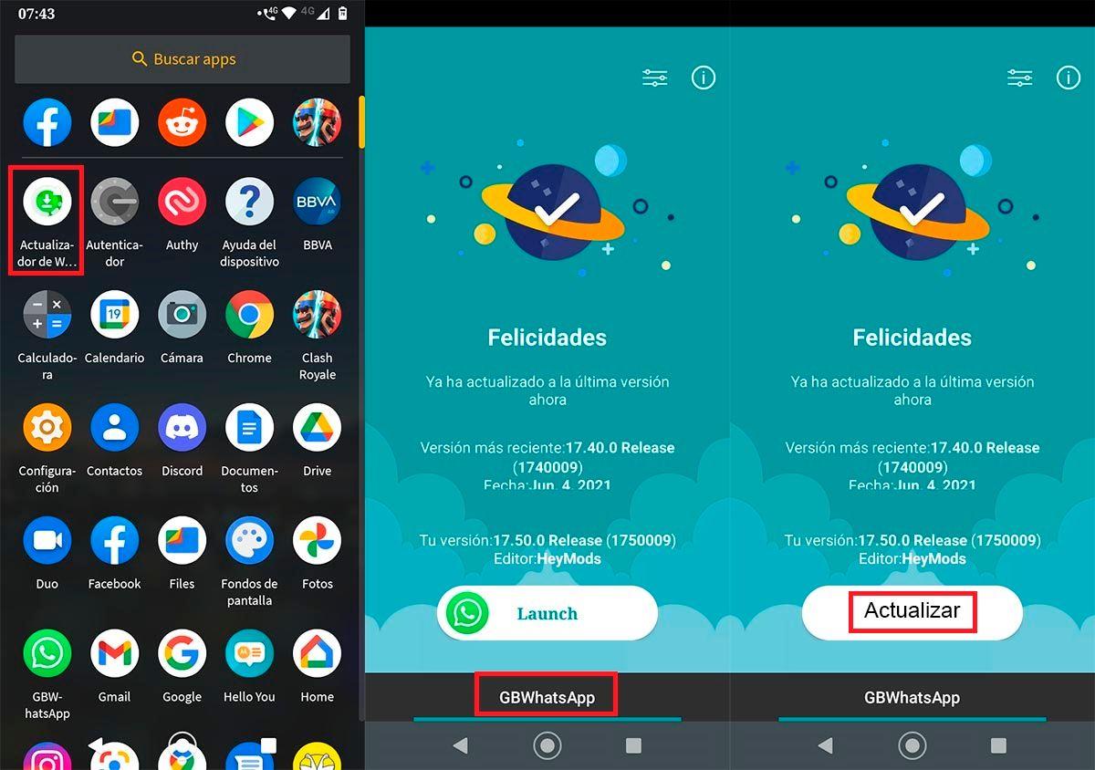 Actualizar Mods de WhatsApp automaticamente