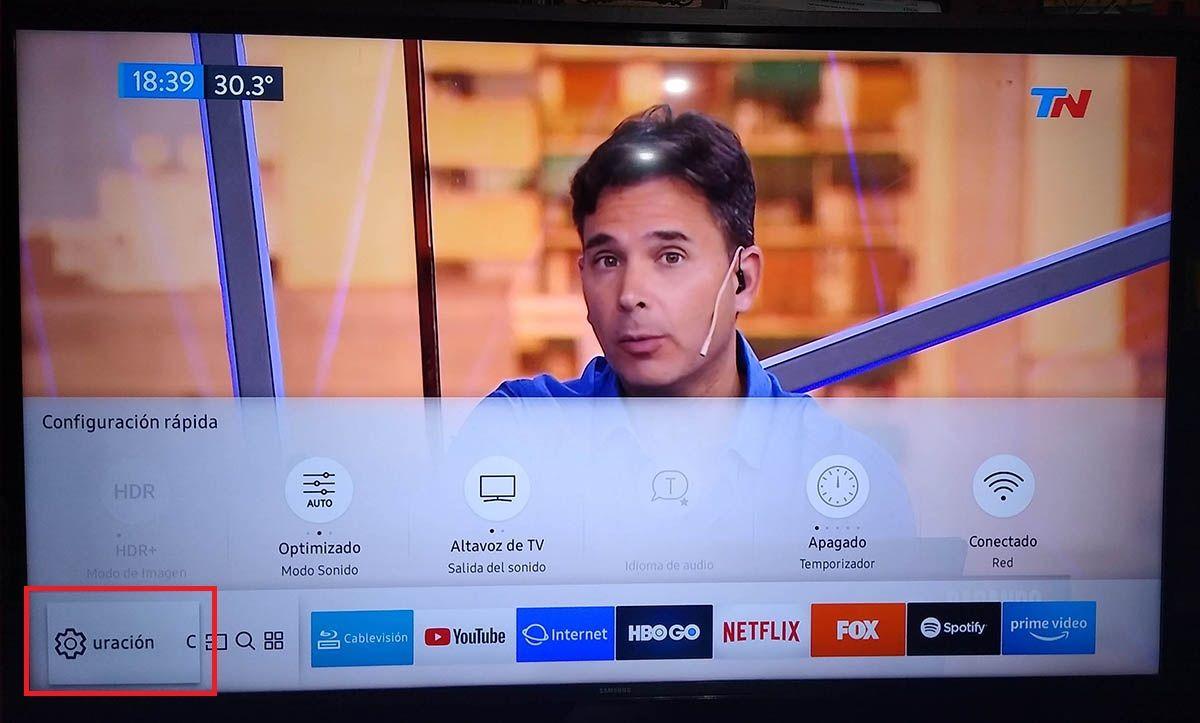 Actualizar Smart TV Samsung tutorial paso 2