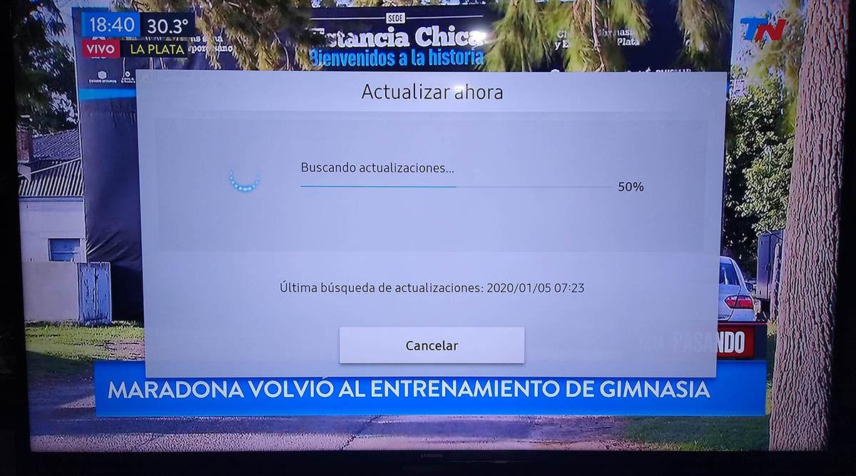 Actualizar Smart TV Samsung tutorial paso 6