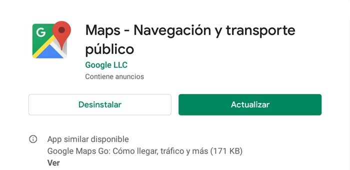 Actualizar google maps play store
