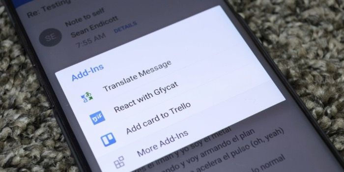 Add-ins a Outlook para Android