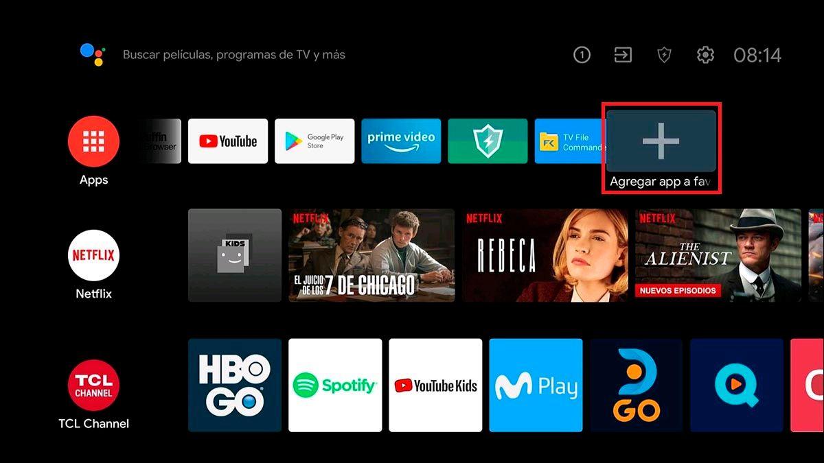 Agregar acceso directo Android TV