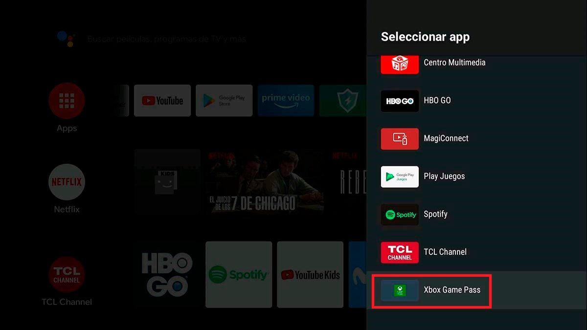Agregar app favorita Android TV