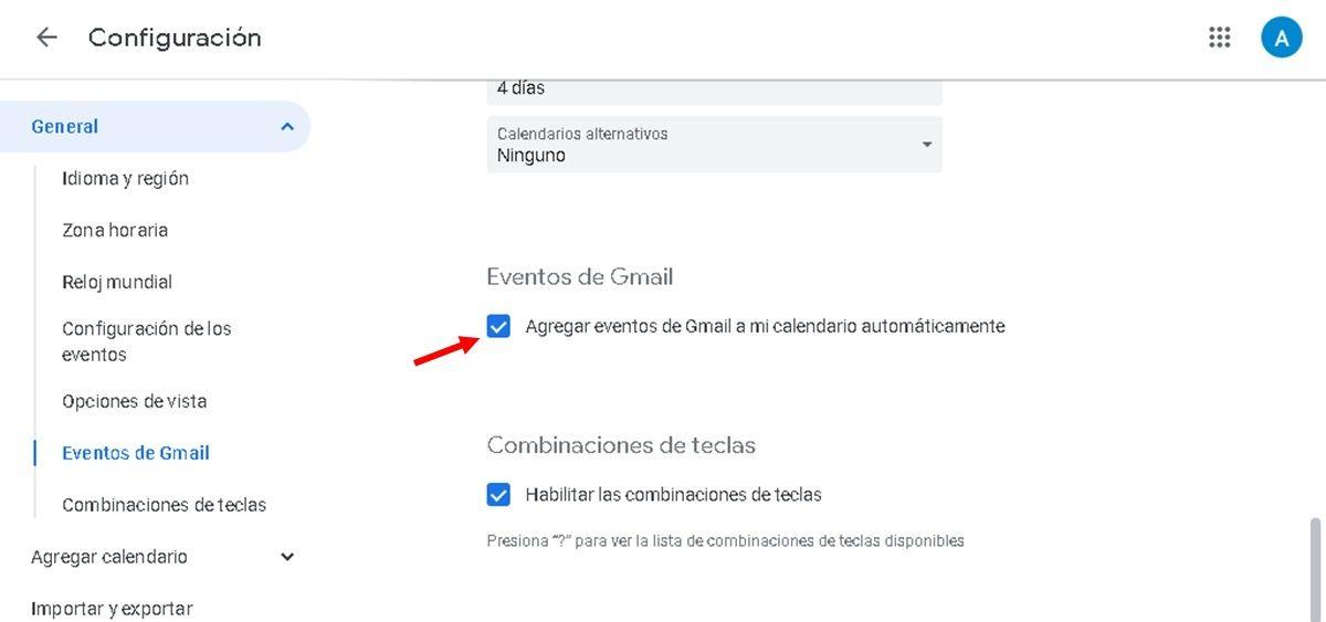 Agregar eventos automaticamente gmail google calendar