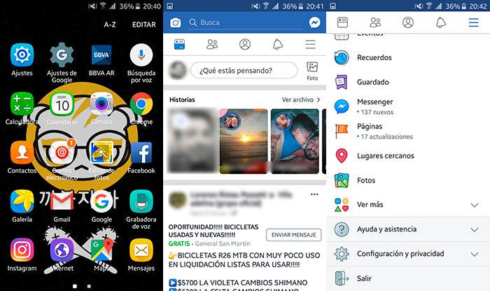 Ahorrar datos moviles Facebook Paso 1