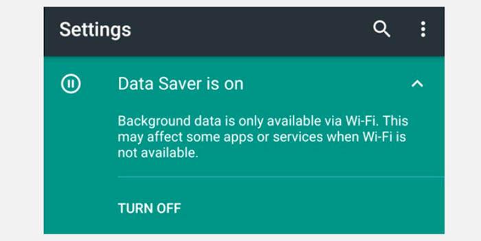 Ahorro de datos Nougat