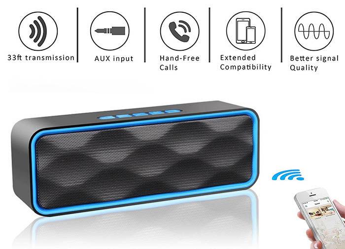 Aigoss Bluetooth Speaker S1 altavoz Bluetooth con radio fm