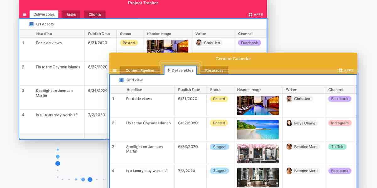 Airtable app alternativa a Trello