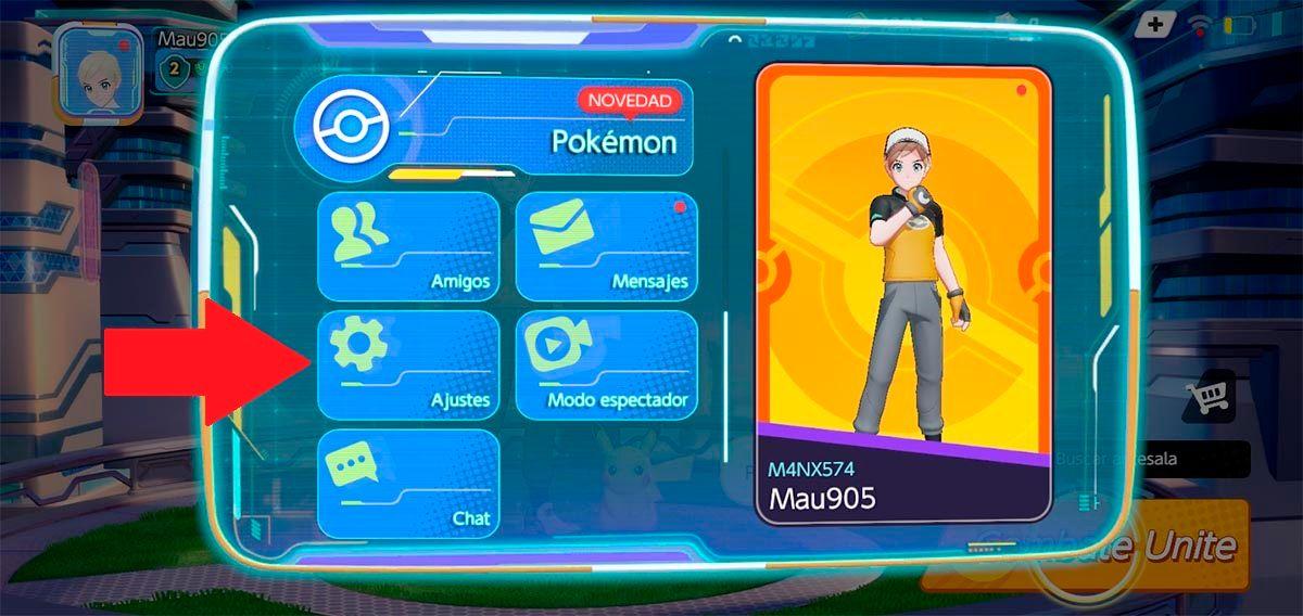 Ajustes Pokemon UNITE