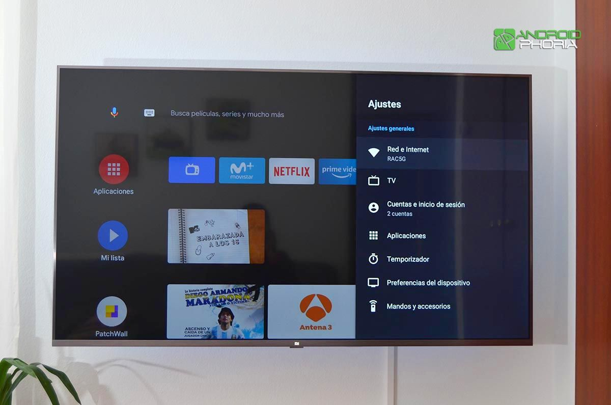 Ajustes Xiaomi Mi TV 4S 55