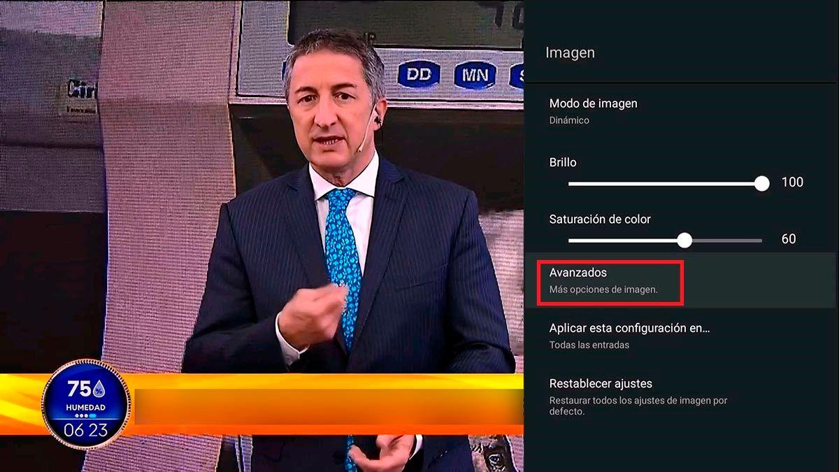 Ajustes avanzados de imagen TCL Android TV