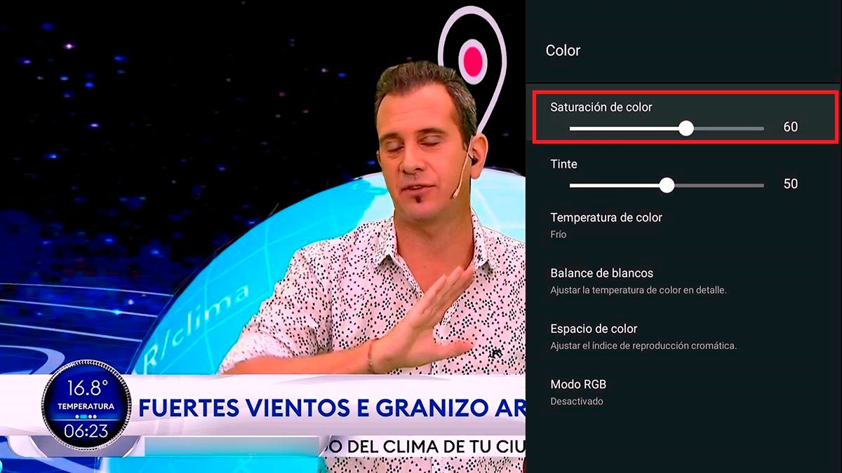 Ajustes de color TV TCL