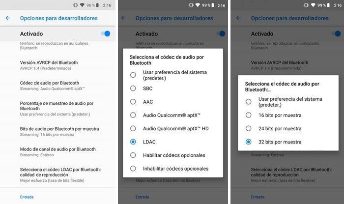 Ajustes para mejorar sonido de auriculares Bluetooth en Android