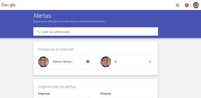 Alertas Google cuando alguien te menciona en internet