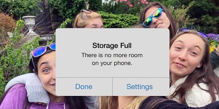 Almacenamiento completo iPhone