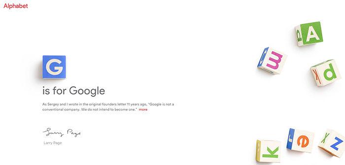 Alphabet, nuevo Google