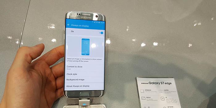 Always On Galaxy S7 Edge