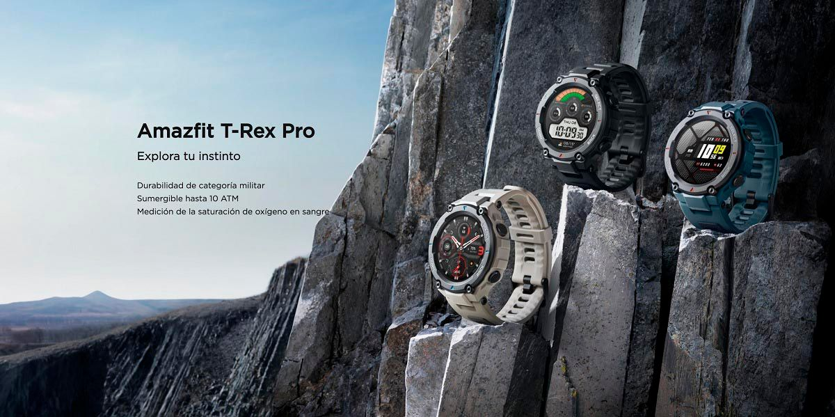 Amazfit T-Rex Pro smartwatch a prueba de todo