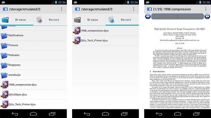 AnDoc DJVU and PDF Reader para Android