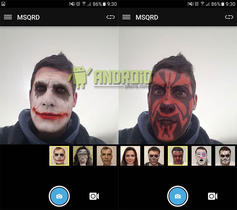 Anadir mascaras MSQRD Android