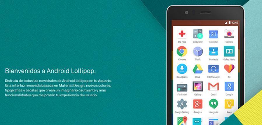 Android 5.0 Lollipop BQ Aquaris E5 BQ Aquaris E4.5