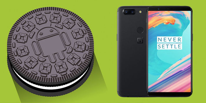 OnePlus 5T con Android Oreo