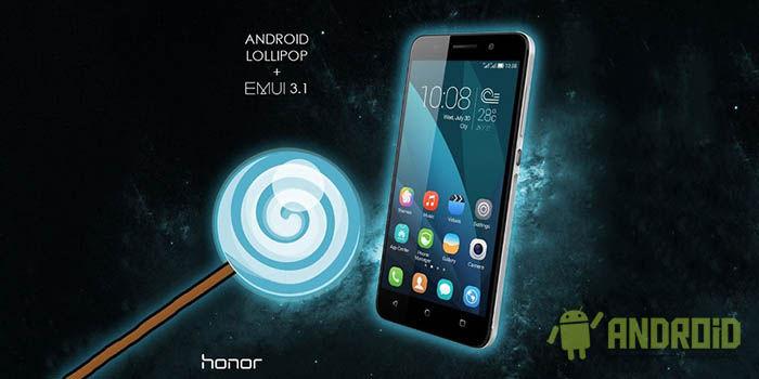 Android Lollipop en Honor 4X