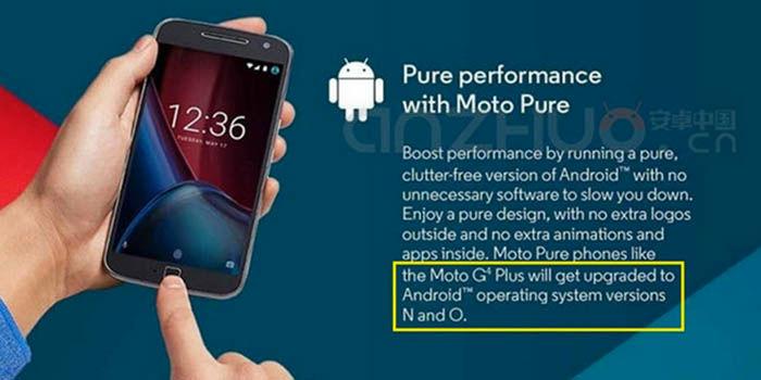 Android O Moto G4