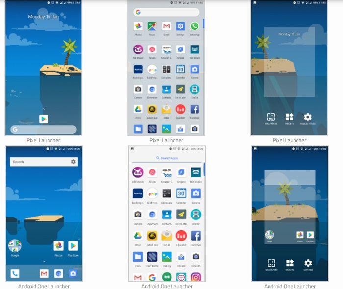 Android One Launcher modificado con el feed de Google