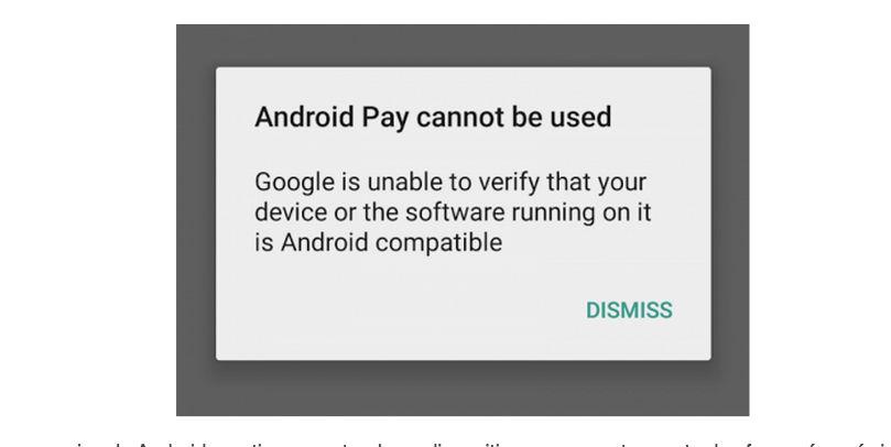 Android Pay no funciona en móviles rooteados