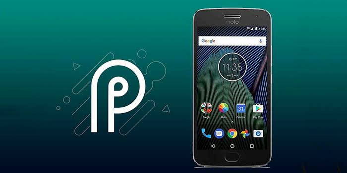 Android Pie para Moto G5