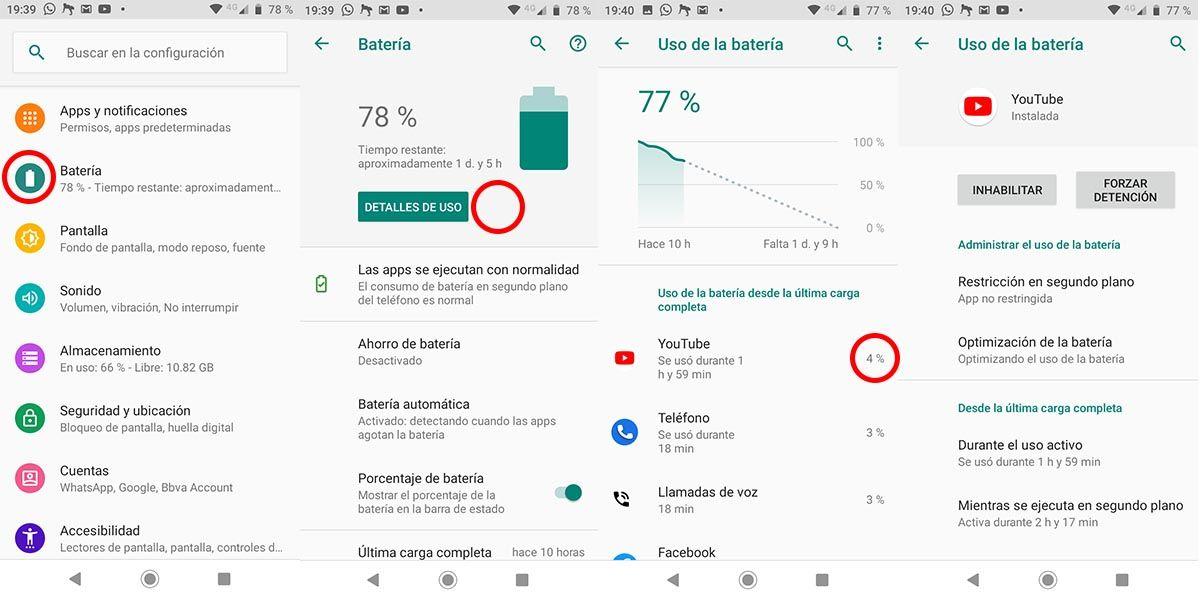 Android Stock batería aplicación