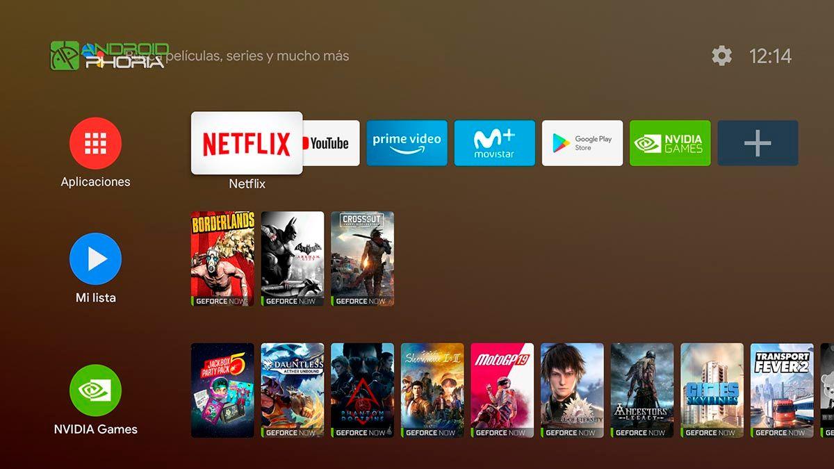 Android TV de Nvidia Shield TV