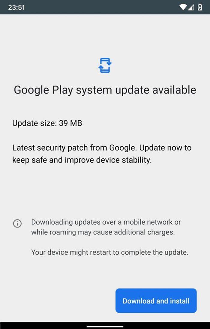 Android actualizando parche seguridad Google Play
