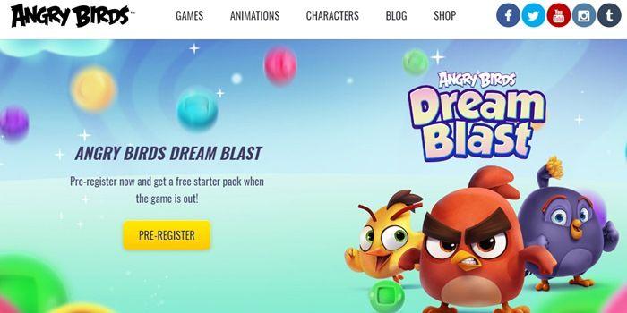 Angry Birds Dream Blast pre registro