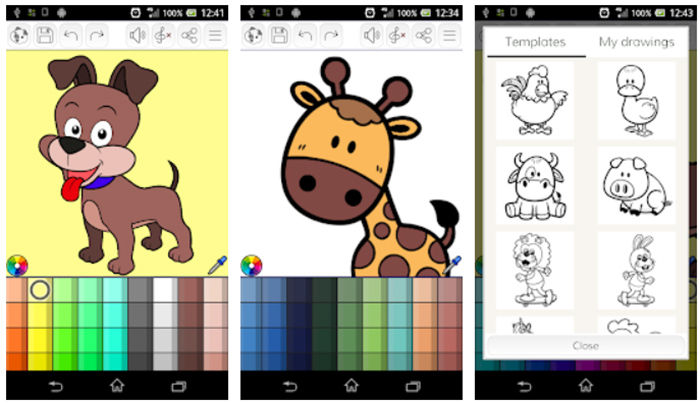 Animales para colorear Android