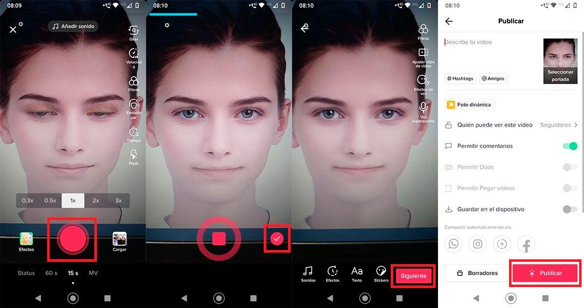 Animar fotos con filtro foto dinamica TikTok
