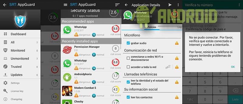 Apagar WhatsApp en Android sin root