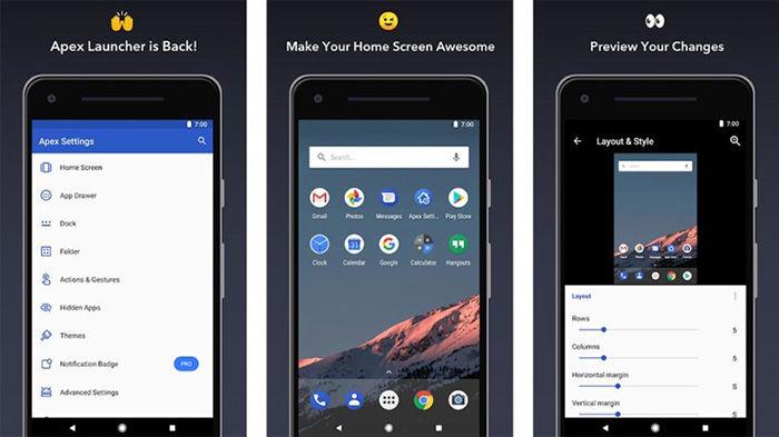 Apex Launcher para Android
