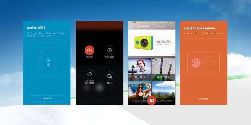 Aplicación Xiaomi Yi en Español