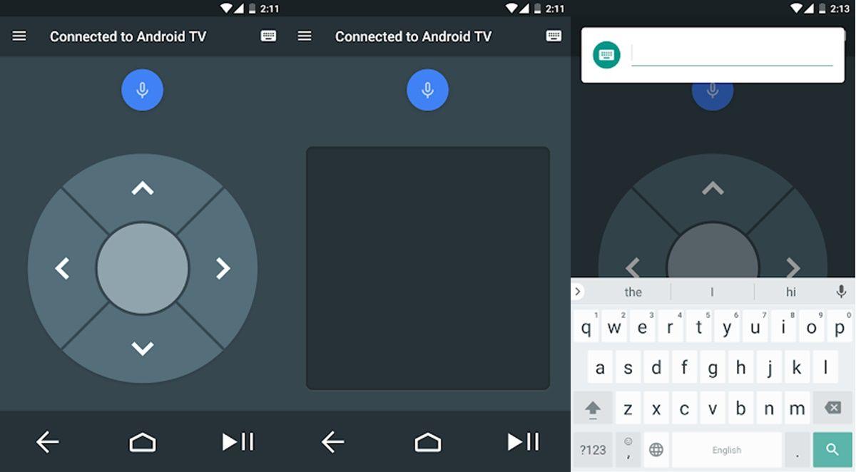 Aplicacion de control remoto para Android TV
