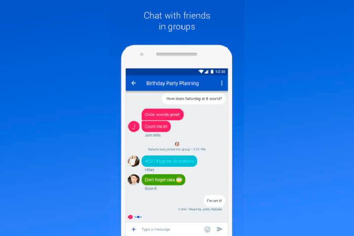 Aplicacion de mensajeria de Google, Chat
